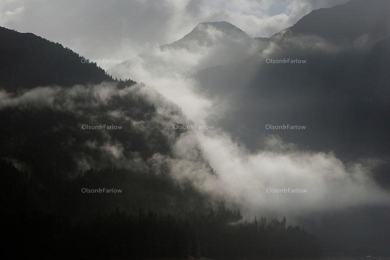 Morning fog in Sitka Sound.