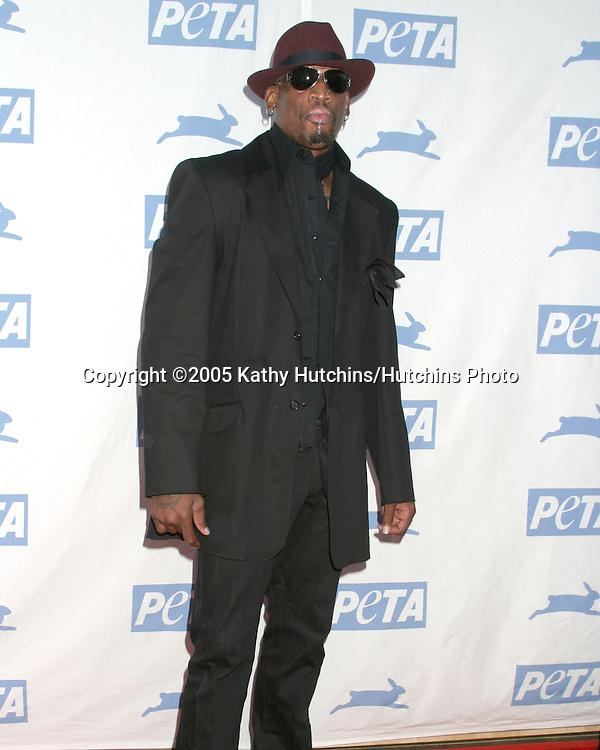 Dennis Rodman.PETA 25TH ANNIVERSARY GALA.Paramount Studios.Los Angeles, CA.September 10, 2005.©2005 Kathy Hutchins / Hutchins Photo