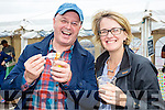 Enjoying the Scallop Festival on Valentia Island on Saturday were Cathal Cusack & Mary Deasy.