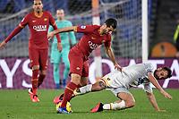 Henrikh Mkhitaryan of AS Roma , Marco Mancosu of Lecce <br /> Roma 23/02/2020 Stadio Olimpico <br /> Football Serie A 2019/2020 <br /> AS Roma - Lecce<br /> Photo Andrea Staccioli / Insidefoto