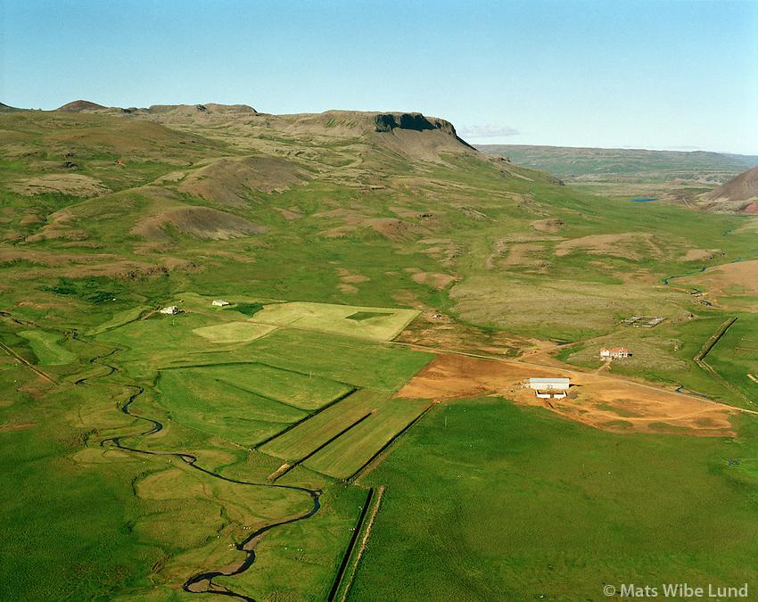 Þverá séð til norðurs, Eyja- og Miklaholtshreppur /  Thvera viewing north, Eyja- og Miklaholtshreppur