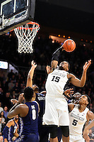 Wednesday, January 4, 2016: Providence Friars forward Emmitt Holt (15) plays the ball at the basket during the NCAA basketball game between the Georgetown Hoyas and the Providence Friars held at the Dunkin Donuts Center, in Providence, Rhode Island. Providence defeats Georgetown 76-70 in regulation time. Eric Canha/CSM