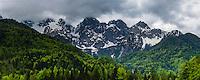 Slovenia. Juilan Alps just outside Kranjska Gora, Triglav National Park, Upper Carniola, Slovenia