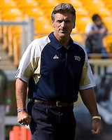 September 20, 2008: Pitt head coach Dave Wannstedt. The Pitt Panthers defeated the Iowa Hawkeyes 21-20 on September 20, 2008 at Heinz Field, Pittsburgh, Pennsylvania.