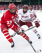 Jakob Forsbacka Karlsson (BU - 23), Shane Bear (UMass - 24) - The Boston University Terriers defeated the University of Massachusetts Minutemen 5-3 on Sunday, January 8, 2017, at Fenway Park in Boston, Massachusetts.The Boston University Terriers defeated the University of Massachusetts Minutemen 5-3 on Sunday, January 8, 2017, at Fenway Park.
