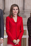 Queen Letizia of Spain during the 2014 Spanish Investigation Awards at Royal Palace in Madrid, Spain. January 15, 2015. (ALTERPHOTOS/Victor Blanco)