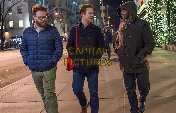 The Night Before (2015) <br /> Seth Rogen, Joseph Gordon-Levitt and Anthony Mackie<br /> *Filmstill - Editorial Use Only*<br /> CAP/FB<br /> Image supplied by Capital Pictures