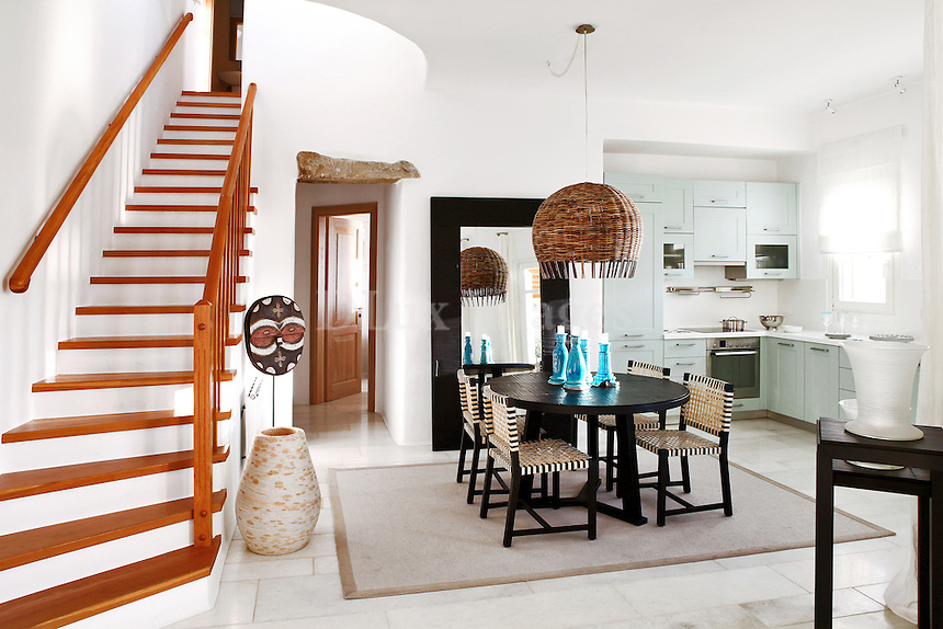 cycladic house with ethnic decorations
