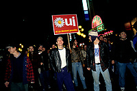 FILE PHOTO - <br /> La defaite du camp du OUI lors du referendum, le 30 Octobre 1995<br /> <br /> PHOTO : Pierre Roussel<br />  - Agence Quebec Presse
