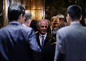 United States Senator Bob Corker (Republican of Tennessee) stands in the elevator  at Trump Tower on November 29, 2016 in New York City.   <br /> Credit: John Angelillo / Pool via CNP