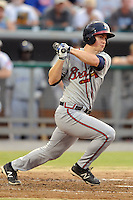 Mississippi Braves left fielder Todd Cunningham #4 swings at a pitch during the Southern League All-Star Game  at Smokies Park on June 19, 2012 in Kodak, Tennessee.  The South Division defeated the North Division 6-2. (Tony Farlow/Four Seam Images).