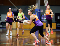 24.08.2017 Silver Ferns Gina Crampton in action during at the Silver Ferns training in Brisbane. Mandatory Photo Credit ©Michael Bradley.