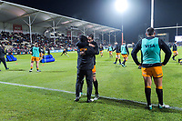 The Jaguares warm up for the 2019 Super Rugby final between the Crusaders and Jaguares at Orangetheory Stadium in Christchurch, New Zealand on Saturday, 6 July 2019. Photo: Dave Lintott / lintottphoto.co.nz