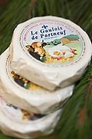 Am&eacute;rique/Am&eacute;rique du Nord/Canada/Qu&eacute;bec/ Qu&eacute;bec:  March&eacute; du Vieux-Port _ Etal de Fromages  &agrave; : La Fromag&egrave;re, March&eacute; du vieux port<br /> Le Gaulois de Portneuf : Fromage fermier &agrave; p&acirc;te molle &agrave; cro&ucirc;te fleurie, fait de lait de vache entier cru.