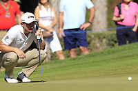 Paul Dunne (IRL) at the 3rd green during Friday's Round 2 of the 2018 Turkish Airlines Open hosted by Regnum Carya Golf &amp; Spa Resort, Antalya, Turkey. 2nd November 2018.<br /> Picture: Eoin Clarke | Golffile<br /> <br /> <br /> All photos usage must carry mandatory copyright credit (&copy; Golffile | Eoin Clarke)