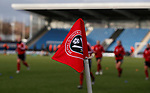 Sheffield Utd branded corner flags during the The FA Women's Championship match at the Proact Stadium, Chesterfield. Picture date: 8th December 2019. Picture credit should read: Simon Bellis/Sportimage