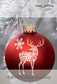 Isabella, CHRISTMAS SYMBOLS, paintings, red ball, deer(ITKE524774,#XX#)