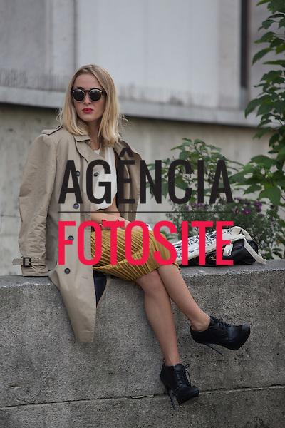Paris, Franca&sbquo; 28/09/2013 - Moda de rua durante a Semana de moda de Paris  -  Verao 2014. <br /> Foto: Mastrangelo Reino/ FOTOSITE