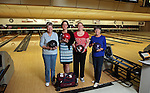 Family members from left, Bonnie Legerski, Erica Legerski, Barbara Powers, and Jo Williams have their portrait taken before league competition at Two Bar Bowl earlier this week. The family team has been playing together for the past five years and said recreation with family and friends as one of their favorite things about living in Laramie County.To participate in WTE Photo Editor Michael Smith's Our Faces: Portraits of Laramie County project, call 633-3124 or 630-8388 or email msmith@wyomingnews.com to make an appointment. To see all of the portraits published so far, go online to ourfaces.wyomingnews.com. Michael Smith/staff
