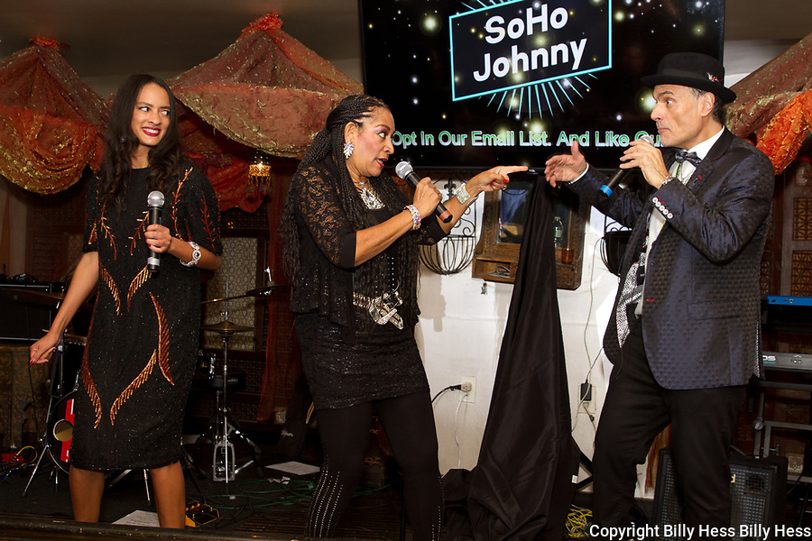 Award Winning Recording Artist Kim Sledge  of The Sledge Sister. Kim Sledge member of the award winning band Sister Sledge Soho Johnny recording artist  music and event promoter, NYC real estate mogul
