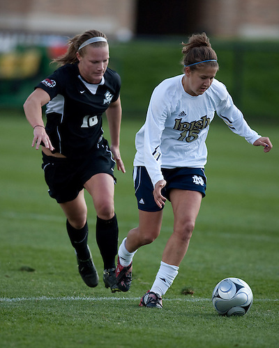 October 18, 2009:  NCAA Women's Soccer match between the Notre Dame Fighting Irish and the Providence Friars at Notre Dame Alumni Stadium in South Bend, IN.  Notre Dame defeated the Providence 2-0.