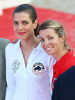 Charlotte Casiraghi and Edwina Tops-Alexander attend the Longines Pro-Am Cup Monaco 2014