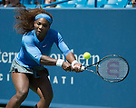 Serena Williams (USA) defeats Eugenie Bouchard (CAN) 4-6, 6-2, 6-2 at the Western & Southern Open in Mason, OH on August 14, 2013.