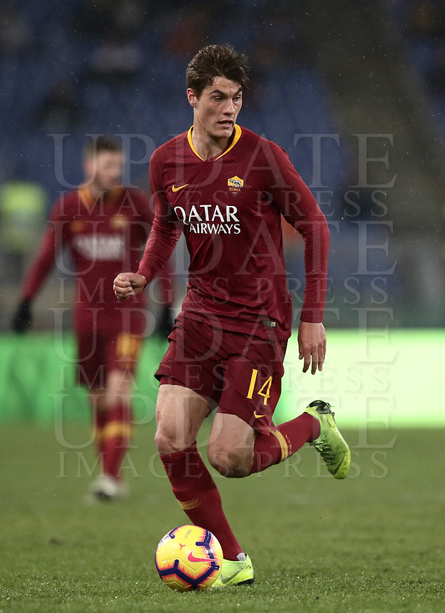 Football, Serie A: AS Roma - Genoa, Olympic stadium, Rome, December 16, 2018. <br /> Roma&rsquo;s Patrik Schick in action during the Italian Serie A football match between Roma and Genoa at Rome's Olympic stadium, on December 16, 2018.<br /> UPDATE IMAGES PRESS/Isabella Bonotto