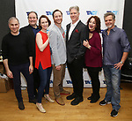 "John Plumpis, Ron McClary, Victoria Mack, Jeffrey C. Hawkins, Karl Kenzler, Dana Smith-Croll and Joel Jones attends the TACT/The Actors Company Theatre Cast Meet & Greet for  ""Three Wise Guys"" on February 15, 2018 at the TACT Studios in New York City."