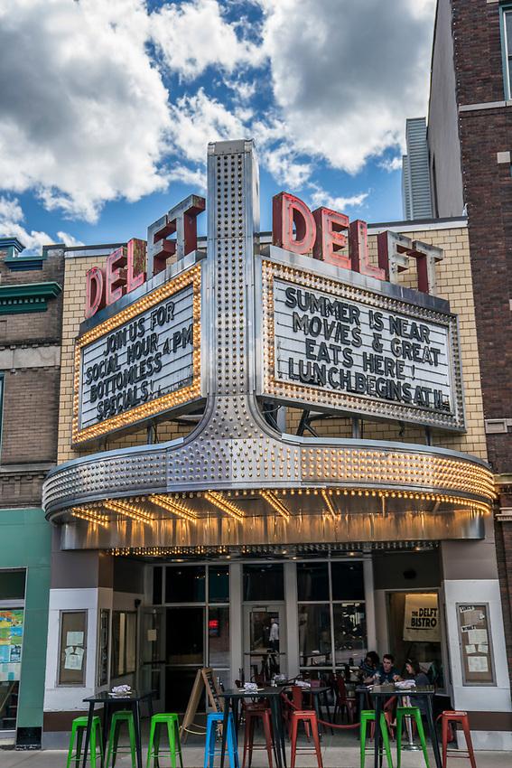 Delft Bistro in the historic Delft Theater building in downtown Marquette.