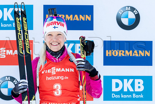 March 19th 2017, Oslo, Norway; BMW IBU World Cup Biathlon;  Kaisa Makarainen of Finland third place in the women 12.5km mass start at the IBU World Cup Biathlon in Holmenkollen Oslo, Norway