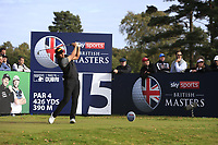 Gavin Green (MAS) on the 15th tee during Round 2 of the Sky Sports British Masters at Walton Heath Golf Club in Tadworth, Surrey, England on Friday 12th Oct 2018.<br /> Picture:  Thos Caffrey | Golffile<br /> <br /> All photo usage must carry mandatory copyright credit (&copy; Golffile | Thos Caffrey)