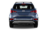 Straight rear view of 2017 Hyundai Santa-Fe Sport 5 Door SUV Rear View  stock images