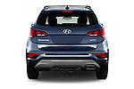 Straight rear view of 2017 Hyundai Santa-Fe Sport 5 Door SUV Rear View  stock images