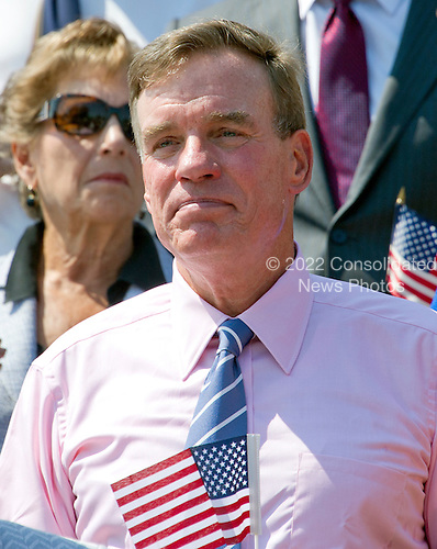 United States Senator Mark Warner (Democrat of Virginia) joins other Democratic members of the US House of Representatives and US Senate as they assemble on the East Steps of the US Capitol to call on Republican leadership in both legislative bodies to schedule votes on funding to combat the Zika Virus, to prohibit people on the federal &quot;no fly&quot; list from purchasing guns, and to conduct confirmation hearings and schedule a vote on the confirmation of Judge Merrick Garland as Associate Justice of the US Supreme Court in Washington, DC on Thursday, September 8, 2016.<br /> Credit: Ron Sachs / CNP