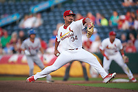 Springfield Cardinals pitcher Andrew Morales (34) delivers a pitch during a game against the Frisco RoughRiders  on June 4, 2015 at Hammons Field in Springfield, Missouri.  Frisco defeated Springfield 8-7.  (Mike Janes/Four Seam Images)