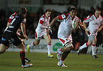 Ulster number 8 Nick Williams Nanai bursts through..Celtic League.Newport Gwent Dragons v Ulster.Rodney Parade.26.10.12.©Steve Pope