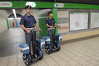 - Milan suburban railways, Garibaldi station, police in security service....- Passante Ferroviario di Milano, stazione Garibaldi, polizia in servizio di sicurezza