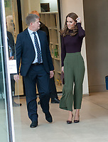 The Duchess of Cambridge, Patron of the Museum, visits the Natural History Museum's Angela Marmont Centre for UK Biodiversity, London, England on October 09, 2019.<br /> CAP/TSC<br /> ©TSC/Capital Pictures