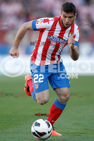 Atletico de Madrid's Emiliano Insua during La Liga match.April 14,2013. (ALTERPHOTOS/Acero)