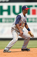 Tennessee shortstop Alberto Gonzalez on defense versus Carolina at Five County Stadium in Zebulon, NC, Sunday, July 2, 2006.  The Mudcats defeated the Smokies 4-0.
