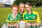 TOP STARS: Rachel Byre, Oonagh O'Sullivan and Mary Appleby, pupils at Derryquay National School, who took part in the Kerry Primary Schools Girls Skills Finals in Fitzgerald Stadium Killarney on Friday last.   Copyright Kerry's Eye 2008