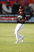 Felix Jorge (35) of the Chattanooga Lookouts warms up prior to the game against the Montgomery Biscuits on May 25, 2018 at AT&T Field in Chattanooga, Tennessee. (Andy Mitchell/Four Seam Images)