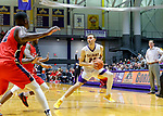 Stony Brook defeats UAlbany  69-60 in the America East Conference tournament quaterfinals at the  SEFCU Arena, Mar. 3, 2018.  Joe Cremo (#24).