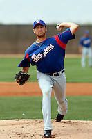 Michael Kirkman  - Texas Rangers - 2009 spring training.Photo by:  Bill Mitchell/Four Seam Images