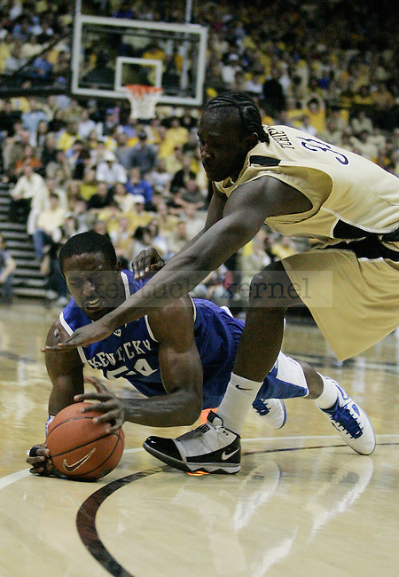 Junior forward Patrick Patterson fights for the ball in the second half of UK's 58-56 win over  Vandy at Memorial Gymnasium in Nashville on Saturday, Feb. 20. 2010. Photo by Britney McIntosh | Staff