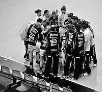EHF Champions League Handball Damen / Frauen / Women - HC Leipzig HCL : SD Itxako Estella (spain) - Arena Leipzig - Gruppenphase Champions League - im Bild: Auszeit Time out Feature Teamgeist Motivation Taktik Mannschaft. Foto: Norman Rembarz .