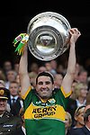 Bryan Sheahan lifts the Sam Maguire Cup to celebrate  Kerry's victory over Donegal in the All-Ireland Football Final against  in Croke Park 2014.<br /> Photo: Don MacMonagle<br /> <br /> <br /> Photo: Don MacMonagle <br /> e: info@macmonagle.com
