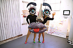 Performance artists during the ChaShaMa 'Open Studios' Opening Night Reception on October 12, 2018 at the Brooklyn Army Terminal in Brooklyn, New York.