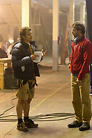 127 Hours (2010) <br /> Behind the scenes photo of James Franco<br /> *Filmstill - Editorial Use Only*<br /> CAP/KFS<br /> Image supplied by Capital Pictures